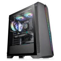 Gabinete Gamer Thermaltake H350 TG RGB Preto Vidro Temperado - CA-1R9-00M1WN-00