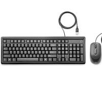 Teclado e Mouse Com Fio HP 160 Preto
