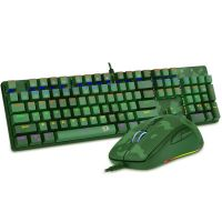 Kit Gamer Redragon S108 Light Green -Teclado Mecânico + Mouse RGB