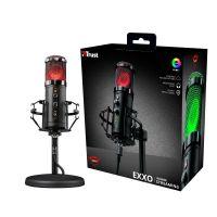 Microfone Trust Gamer Streamer GXT 256 Exxos, RGB, USB - 23510