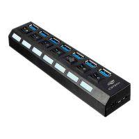 Hub 7 Portas USB 3.0 C3Tech, com Chave Seletora - HU-S370BK