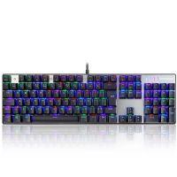 Teclado Mecânico Gamer Motospeed CK104 RGB ABNT2 Switch Azul