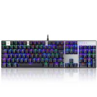 Teclado Mecânico Gamer Motospeed CK104, RGB, Switch Red , FMSTC0068PTO