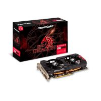 Placa de Vídeo PowerColor Radeon 4GB RX 570 PowerColor Red Dragon AXRX 570 4GBD5-DHDV3/OC