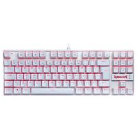 Teclado Mecânico Gamer Redragon Kumara LED Lunar White ABNT2 Switch Black - K552W-2