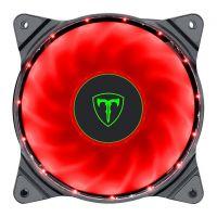 Cooler Fan Para Gabinete T-Dagger 120mm, LED RED, T-TGF300-R