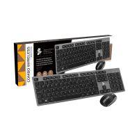 Teclado e Mouse Sem Fio Office Premium 5+ 015-0059